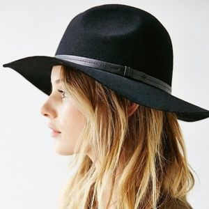 ecote scout panama black felt hat with strap